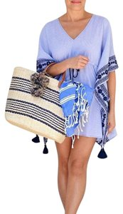 Tory Burch NEW!!! TAGS COVER UP SWIM EMBROIDERED CAFTAN TASSEL SUMMER TOP!