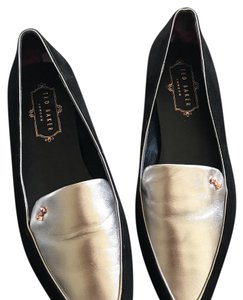 Ted Baker black & silver Flats