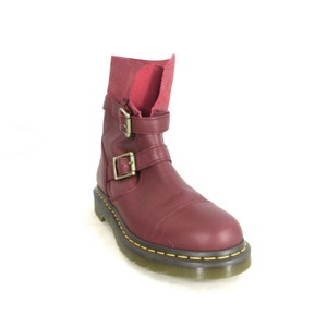 Dr. Martens New Leather Classic Red Boots