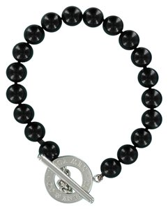 Tiffany & Co. TIFFANY & CO. Sterling Silver Black Onyx Beaded Bracelet Toggle Clasp