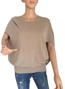 Stefanel Cotton T Shirt Knitted Top Beige
