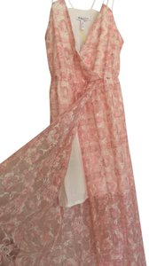 White and Pink Maxi Dress by BCBGeneration Maxi Sheer