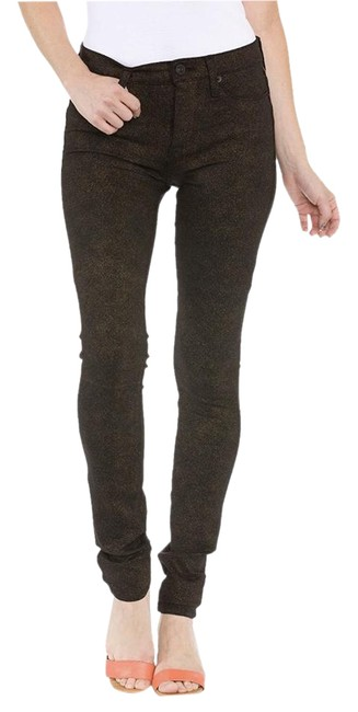 Hudson Mid-rise Stretchy Sparkle Legging Skinny Jeans-Coated