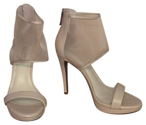 Bcbg Mesh Zip Up Sandal nude Platforms