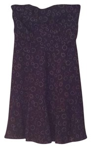 American Eagle Outfitters short dress Navy Blue w/ Pink Circles on Tradesy