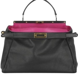 Fendi Satchel in Black/Fuchsia