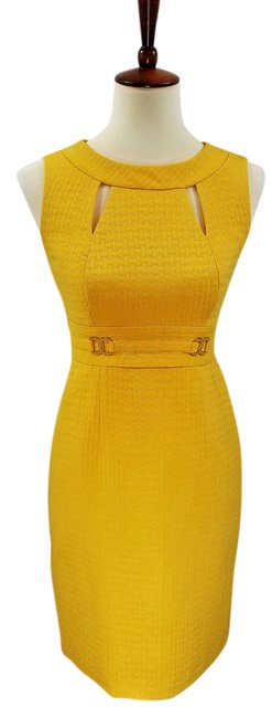 Item - Yellow W Helena In Marigold N T Mid-length Work/Office Dress Size Petite 2 (XS)