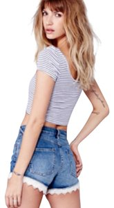 Free People Cut Off Shorts true blue