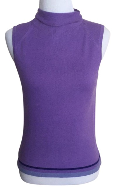 Preload https://img-static.tradesy.com/item/21369779/easel-purple-blue-mock-neck-colorblock-hem-sleeveless-83528-sweaterpullover-size-2-xs-0-1-650-650.jpg