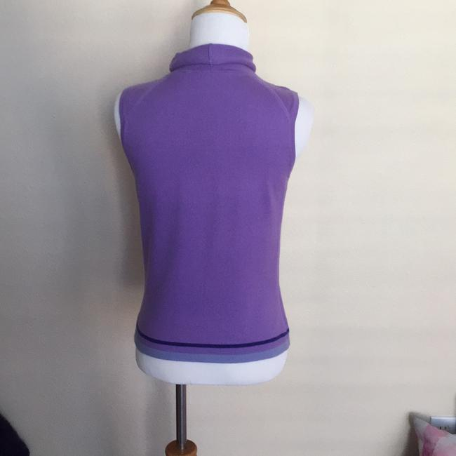 Easel Colorblock Mock Neck Sleeveless Cashmere Soft Sweater