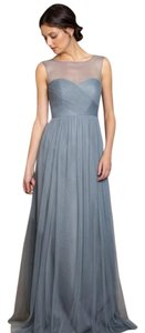 Jenny Yoo Ciel Blue Tulle Aria Formal Bridesmaid/Mob Dress Size 4 (S)