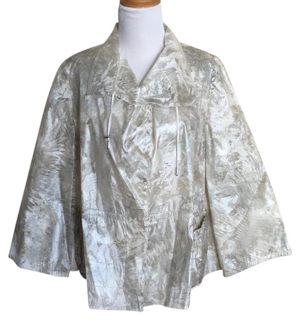 Preload https://img-static.tradesy.com/item/21369916/armani-collezioni-cream-pewter-athleisure-gold-button-up-silk-blend-ponchocape-size-8-m-0-1-650-650.jpg