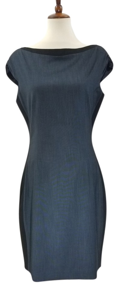 5f18f79382e Tahari Navy and Black Career W T Mid-length Work Office Dress Size ...