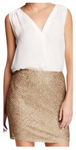 Joie Sequin Mini Skirt Gold
