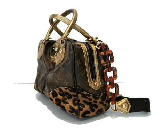 Louis Vuitton Limited Edition Stephen Sprouse Satchel in brown monogram, brown spotted leopard