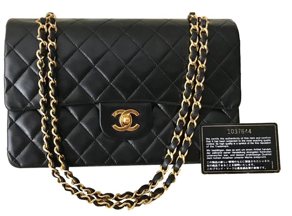 f754302584c7bc Chanel Classic Double Flap W Puffy Quilted 1989 Medium 10