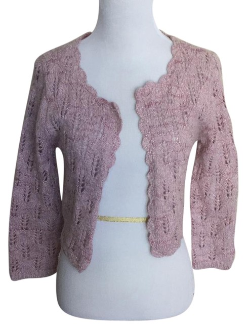 Preload https://img-static.tradesy.com/item/21369977/caslon-pink-open-knit-metallic-cardigan-size-8-m-0-1-650-650.jpg