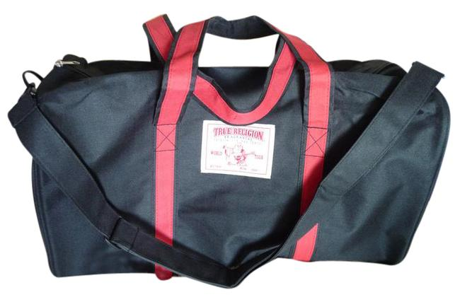 Item - Duffle Red White and Black Canvas Nylon Weekend/Travel Bag