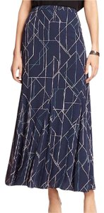 Banana Republic New With Tags Maxi Skirt Navy Blue / Pink / Lt Blue / Pale Grey / Ivory