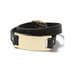 Banana Republic Banana Republic Faux-Leather Plated Wrap Bracelet