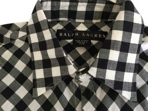Ralph Lauren Button Down Shirt Black and white check