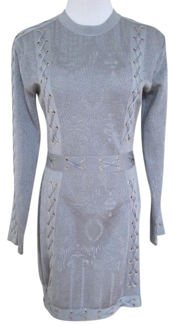 Preload https://img-static.tradesy.com/item/21370081/balmain-gray-grommet-laced-long-sleeve-zip-sheath-short-night-out-dress-size-10-m-0-1-650-650.jpg