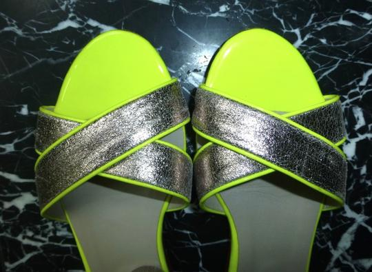 Boden Silver/Pewter Leather Sorrento Ankle Strap Silver Sandals