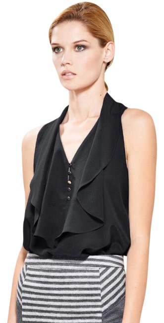 Preload https://img-static.tradesy.com/item/21370344/greylin-black-penelope-ruffled-silk-crepe-sleeveless-blouse-size-0-xs-0-1-650-650.jpg