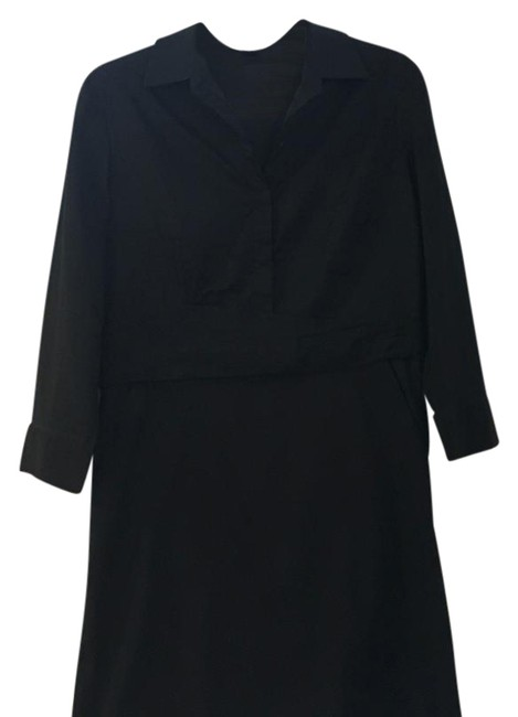 Preload https://img-static.tradesy.com/item/21370346/ann-taylor-black-x-mid-length-workoffice-dress-size-8-m-0-1-650-650.jpg
