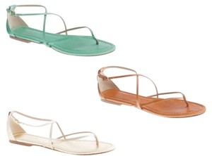 J.Crew Aurora Leather Strappy Mint Green Sandals