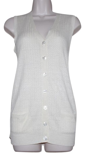 Preload https://img-static.tradesy.com/item/21370361/ralph-lauren-blue-label-ivory-linen-30-silk-knit-vest-women-sizexs-cardigan-size-2-xs-0-1-650-650.jpg