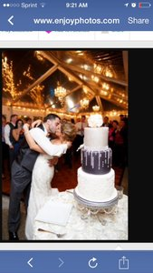 3-tier Fake Wedding Cake Or Can Be A Display Cake For Event