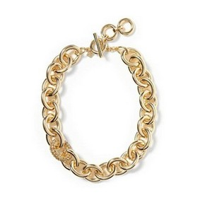 Banana Republic Banana Republic Pave Link Gold Necklace