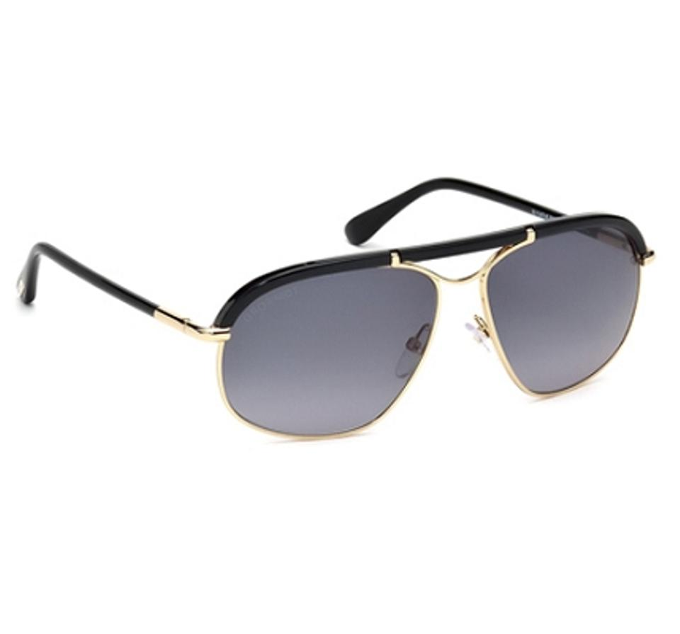 35e747c9b3 Tom Ford Tom Ford Sunglasses FT0234 RUSSELL 28B Dark Brown Gold Image 3.  1234