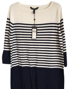 BCBGMAXAZRIA short dress white/navy on Tradesy