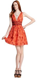 Theory short dress Orange Spring on Tradesy