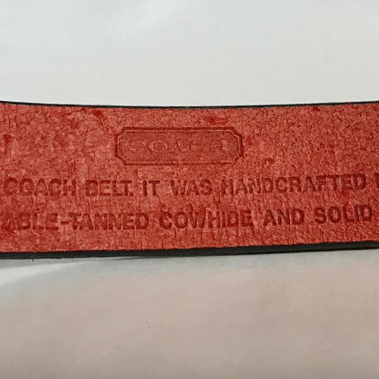 Coach Coach Red Cowhide Leather Belt S