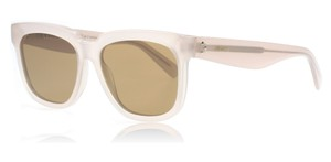 Cline NEW Celine 41057/S Radical Oversized Ivory Beige Sunglasses