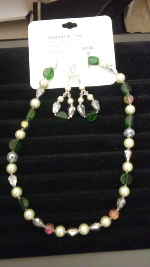 Hand Craft 2 Sets - Crystal Beaded Necklace Set
