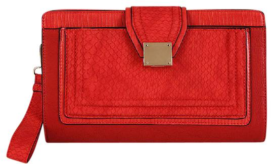 Preload https://img-static.tradesy.com/item/21370775/melie-bianco-red-faux-leather-clutch-0-1-540-540.jpg