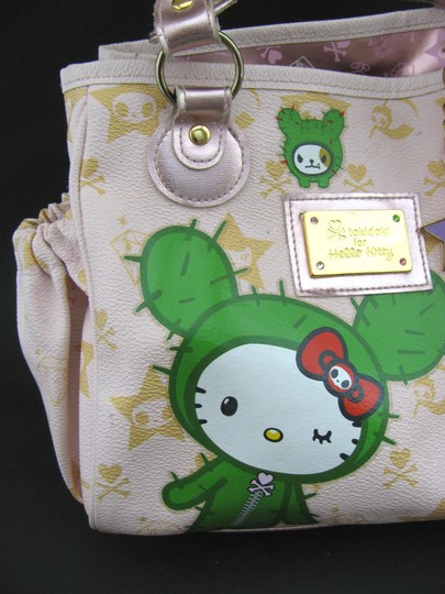Tokidoki Hello Kitty Boston Handbag Purse Print Hand Anime Rare 2008 Hardware Japan Baguette