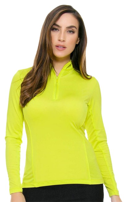 Preload https://img-static.tradesy.com/item/21370821/peter-millar-yellow-polyester-spandex-zip-up-women-long-sleeve-women-s-golf-activewear-top-size-8-m-0-1-650-650.jpg