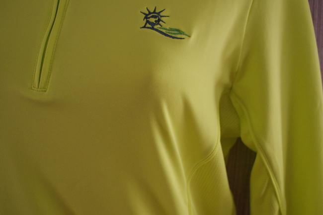 Peter Millar Yellow Polyester Spandex Zip Up Women Long Sleeve women's golf Top