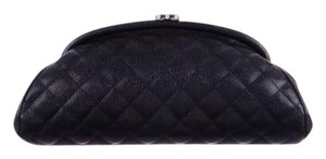 Chanel Classic Caviar Timeless Kisslock Black Clutch