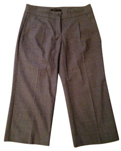 BCBGMAXAZRIA Cropped Flare Wool Pocket Designer Capri/Cropped Pants gray