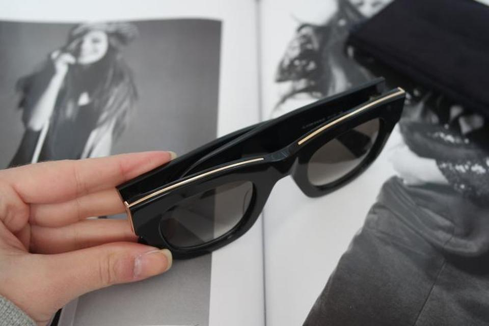 a168867c3b76 Céline NEW Celine Strat Brow Sunglasses Black Gold 41095 S Image 9.  12345678910