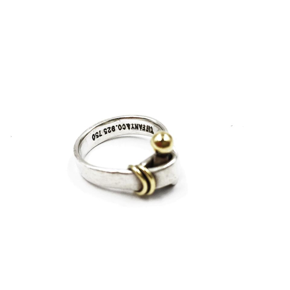 651a53f5e Tiffany & Co. 18K YELLOW GOLD Silver HOOK and EYE RING Image 0 ...