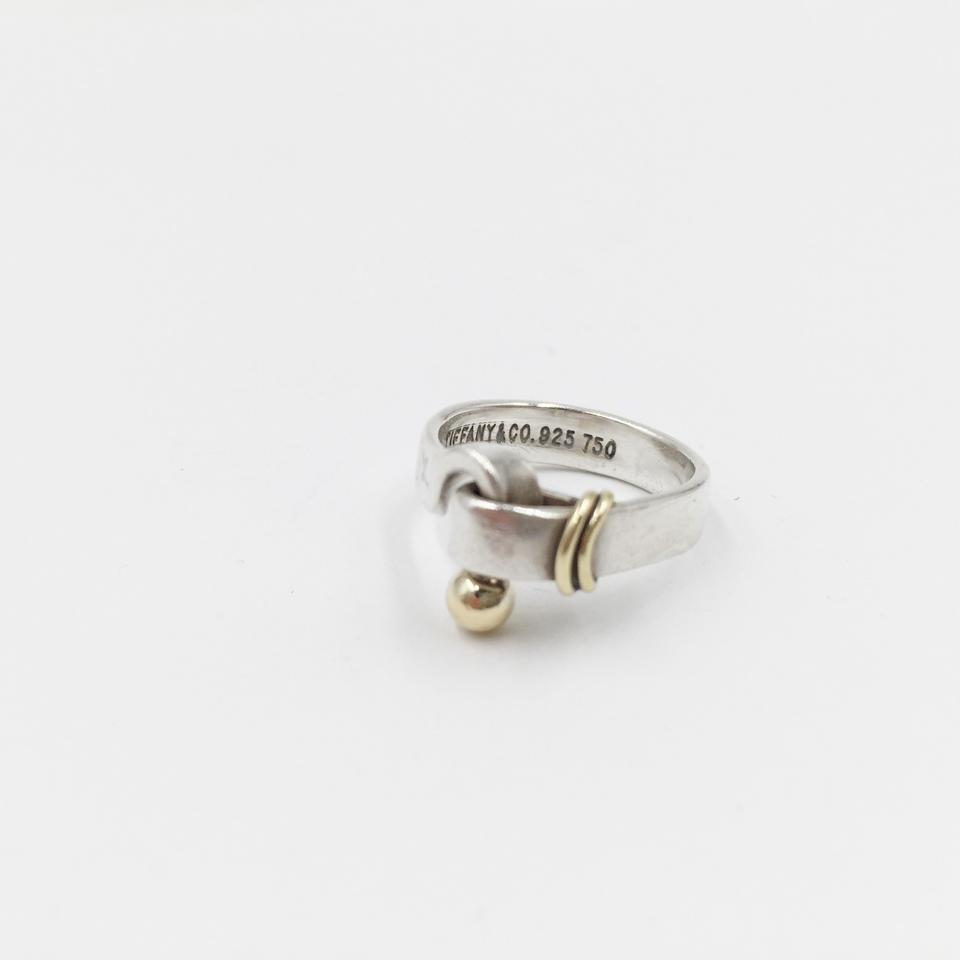 dc2d15847 Tiffany & Co. 18K YELLOW GOLD Silver HOOK and EYE RING Image 6. 1234567