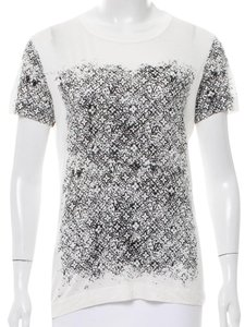 Louis Vuitton Lace Embellished Butterfly Lv Monogram Top Black, White