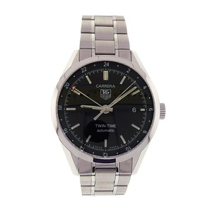 TAG Heuer Tag Heuer Carrera Twin-Time WV2115.BA0787 Stainless Steel Automatic Bl